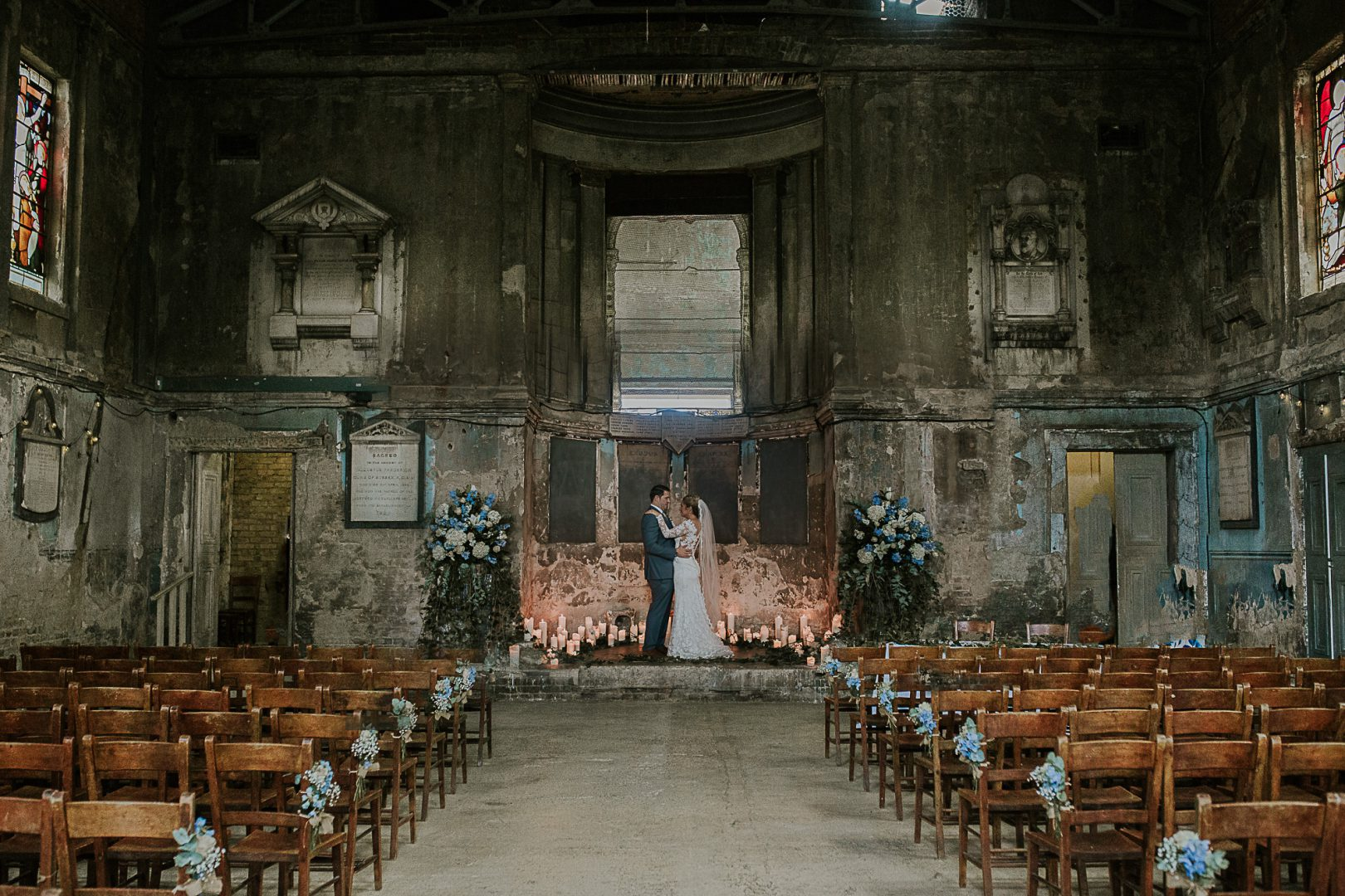 Alternative Wedding in Asylum Chapel London
